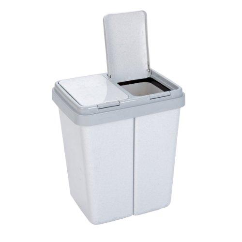 Axentia – Cubo de basura doble con 2...