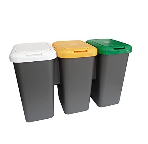 Tontarelli Set 3 PAPELERAS DE Reciclaje...