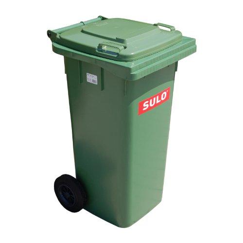 Cubo de basura 2 ruedas, contenedor a...