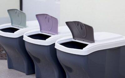 Cubos de basura apilables